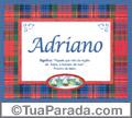 Significado e origem de Adriano