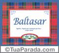 Significado e origem de Baltasar