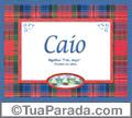 Significado e origem de Caio