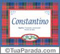 Significado e origem de Constantino