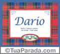 Significado e origem de Darío