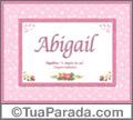 Significado e origem de Abigail