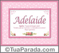 Significado e origem de Adelaide