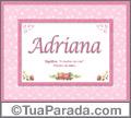 Significado e origem de Adriana
