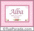 Significado e origem de Alba