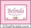Significado e origem de Belnda