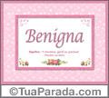 Significado e origem de Benigna
