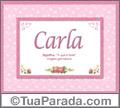 Significado e origem de Carla