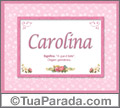 Significado e origem de Carolina