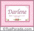 Significado e origem de Darlene