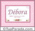 Significado e origem de Débora