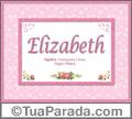 Significado e origem de Elizabeth