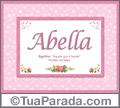 Significado e origem de Abella