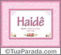 Significado e origem de Haidê
