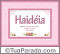 Significado e origem de Haidéia