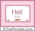 Significado e origem de Heli