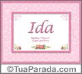 Significado e origem de Ida