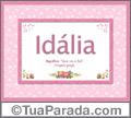 Significado e origem de Idalia