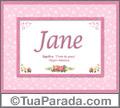 Significado e origem de Jane
