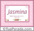 Significado e origem de Jasmina