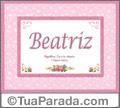 Significado e origem de Beatriz