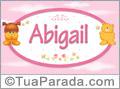 Nomes de bebê: Abigail