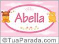 Nomes de bebê: Abella
