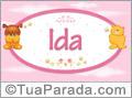 Nomes de bebê: Ida