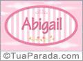 Nomes decorativo de bebê Abigail, para imprimir