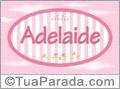 Nomes decorativo de bebê Adelaide, para imprimir