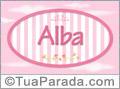 Nomes decorativo de bebê Alba, para imprimir