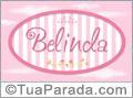 Nomes decorativo de bebê Belinda, para imprimir