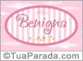 Nomes decorativo de bebê Benigna, para imprimir