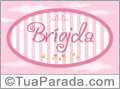 Nomes decorativo de bebê Brigida, para imprimir