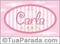Nomes decorativo de bebê Carla, para imprimir