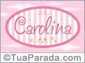 Nomes decorativo de bebê Carolina, para imprimir