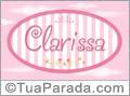 Nomes decorativo de bebê Clarissa, para imprimir
