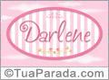 Nomes decorativo de bebê Darlene, para imprimir
