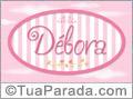 Nomes decorativo de bebê Débora, para imprimir
