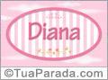 Nomes decorativo de bebê Diana, para imprimir
