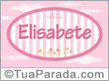 Nomes decorativo de bebê Elisabete, para imprimir