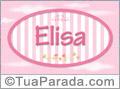 Nomes decorativo de bebê Elisa, para imprimir