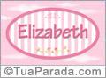 Nomes decorativo de bebê Elizabeth, para imprimir