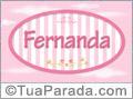 Nomes decorativo de bebê Fernanda, para imprimir