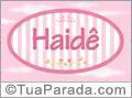 Nomes decorativo de bebê Haidê, para imprimir