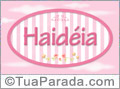 Nomes decorativo de bebê Haidéia, para imprimir