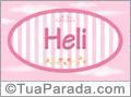 Nomes decorativo de bebê Heli, para imprimir