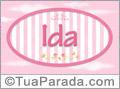 Nomes decorativo de bebê Ida, para imprimir