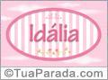 Nomes decorativo de bebê Idalia, para imprimir