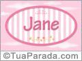 Nomes decorativo de bebê Jane, para imprimir